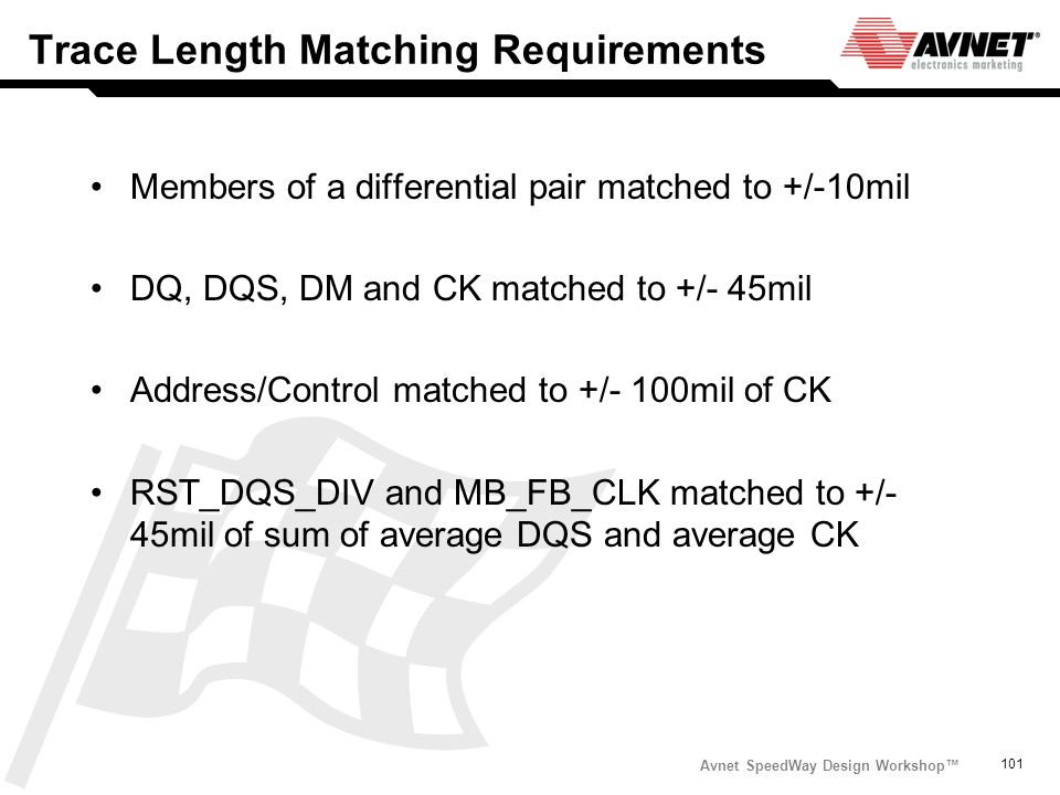 Trace Length Matching Requirements