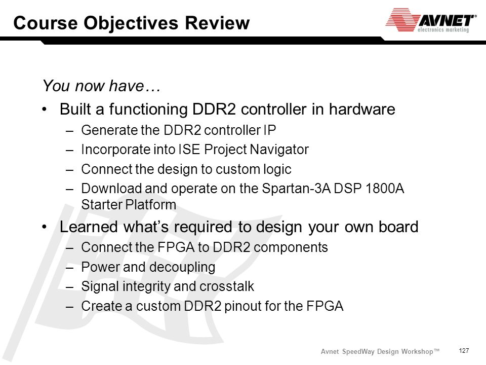 Course Objectives Review