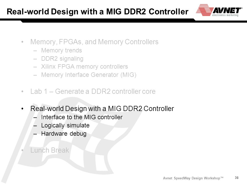 Real-world Design with a MIG DDR2 Controller