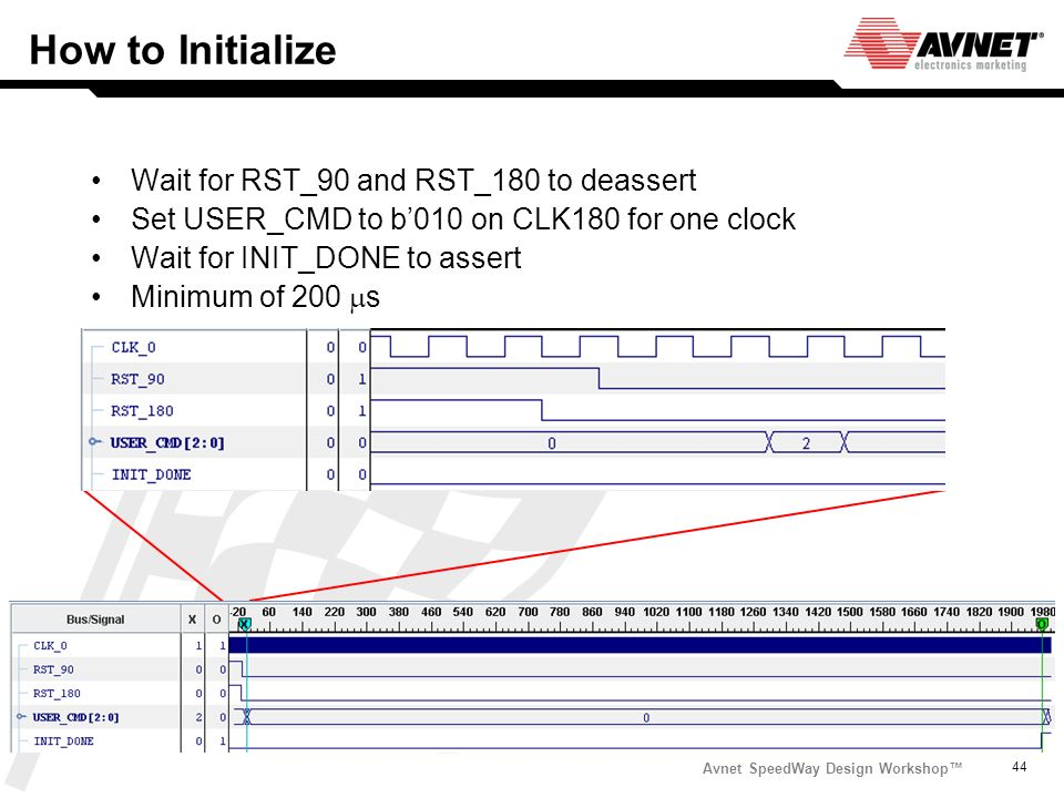 How to Initialize Wait for RST_90 and RST_180 to deassert