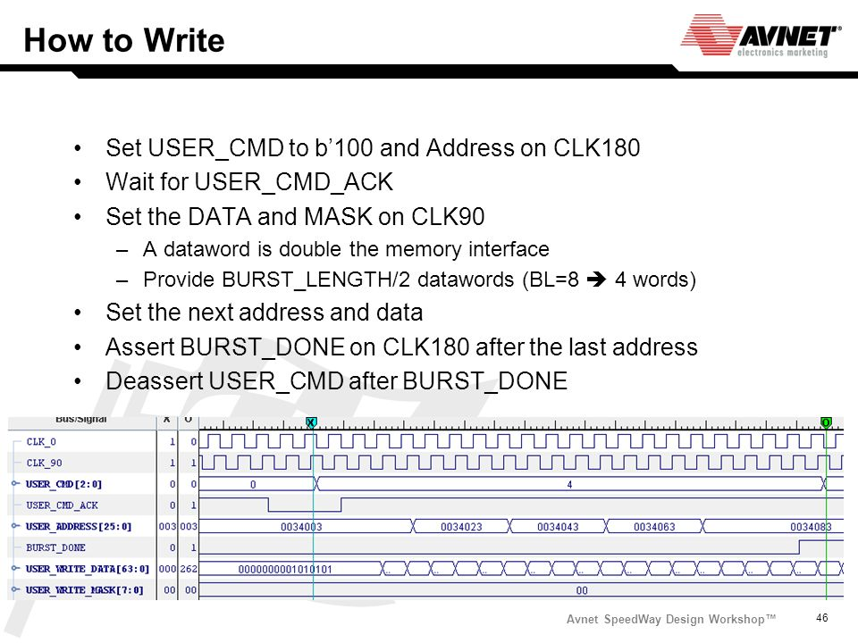How to Write Set USER_CMD to b'100 and Address on CLK180