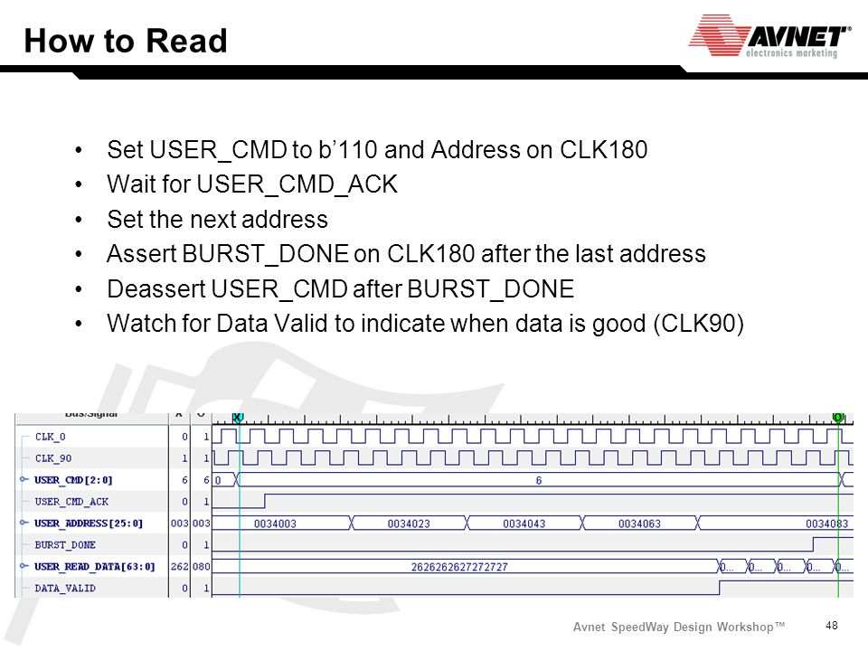 How to Read Set USER_CMD to b'110 and Address on CLK180