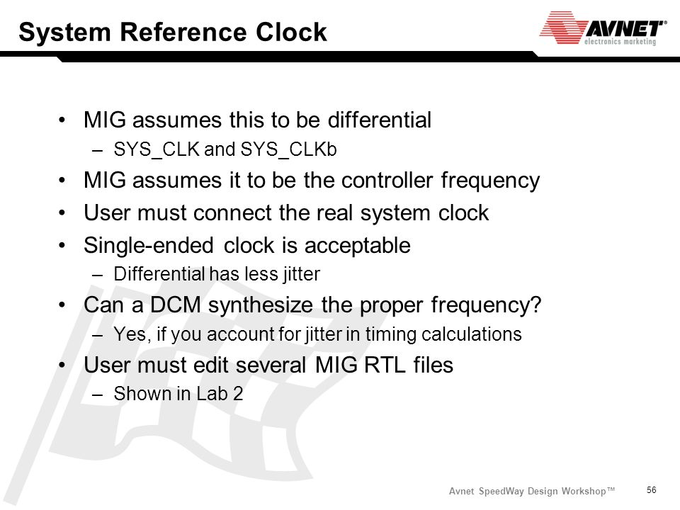 System Reference Clock