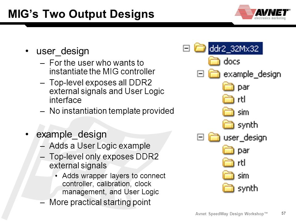 MIG's Two Output Designs