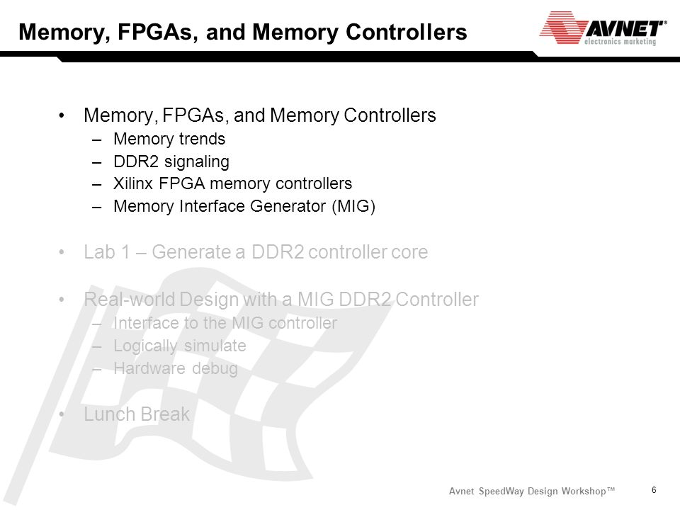 Memory, FPGAs, and Memory Controllers