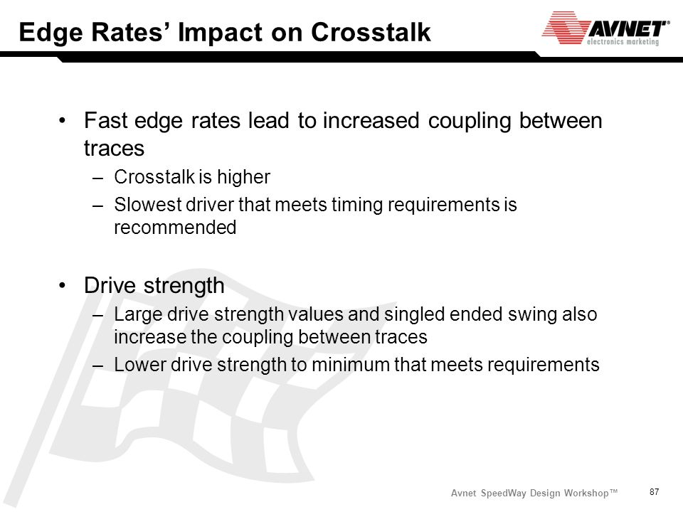 Edge Rates' Impact on Crosstalk