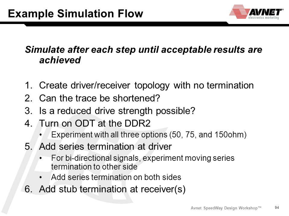 Example Simulation Flow