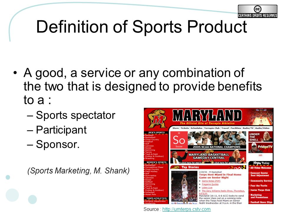 Definition of Sports Product