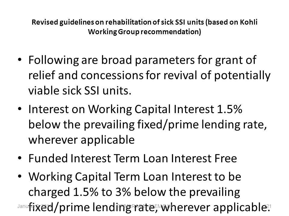 Funded Interest Term Loan Interest Free