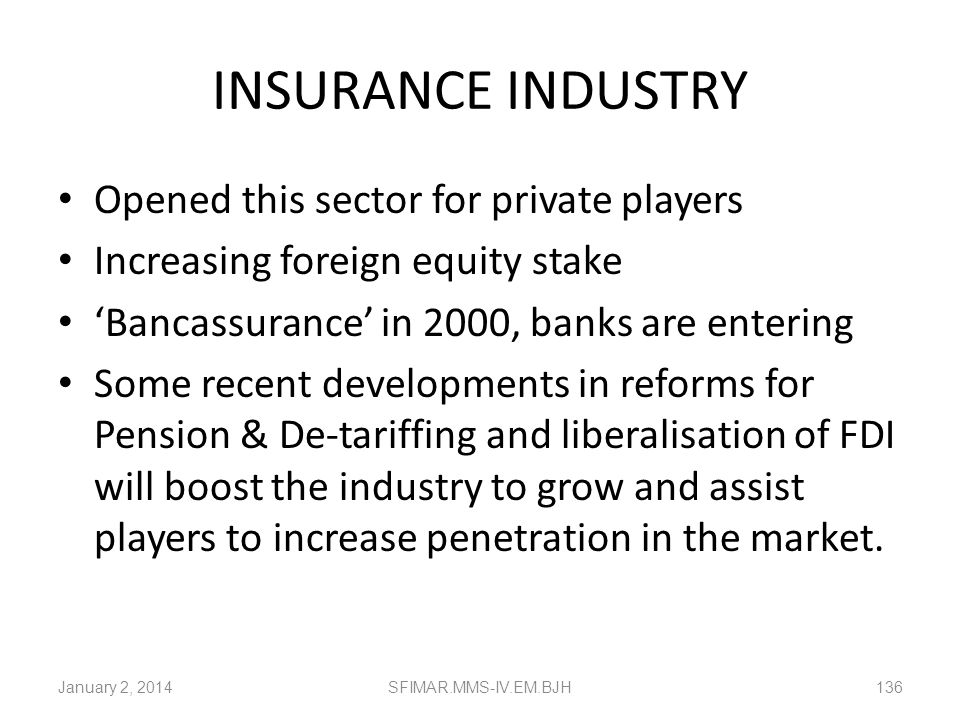 INSURANCE INDUSTRY Opened this sector for private players