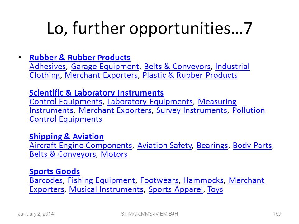 Lo, further opportunities…7