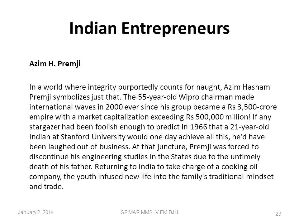 Indian Entrepreneurs Azim H. Premji