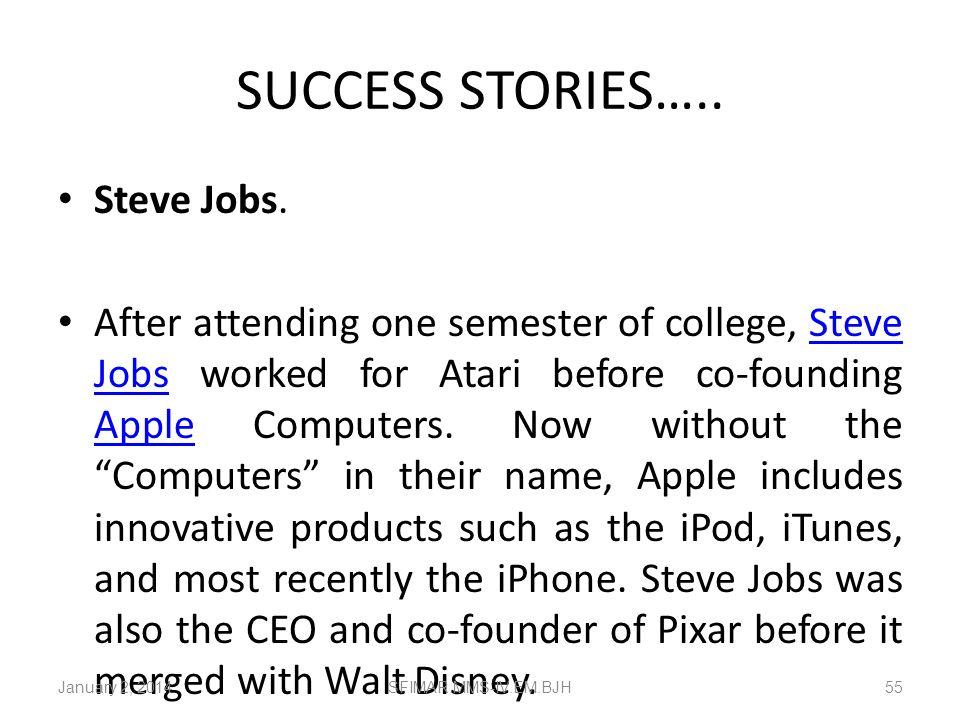 SUCCESS STORIES….. Steve Jobs.