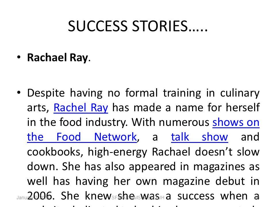 SUCCESS STORIES….. Rachael Ray.