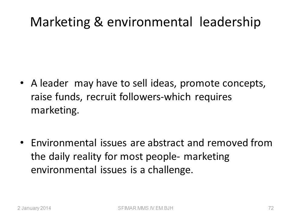 Marketing & environmental leadership