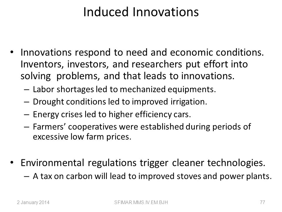 Induced Innovations