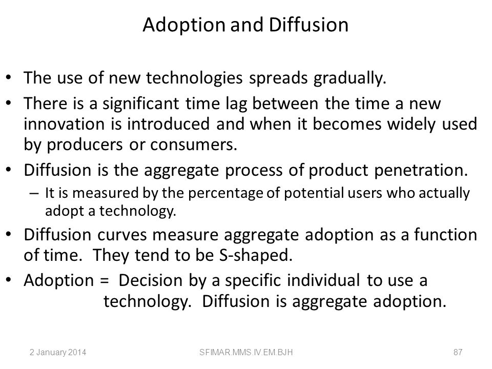 Adoption and Diffusion
