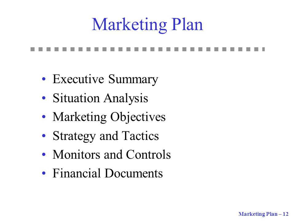 Marketing Plan Executive Summary Situation Analysis