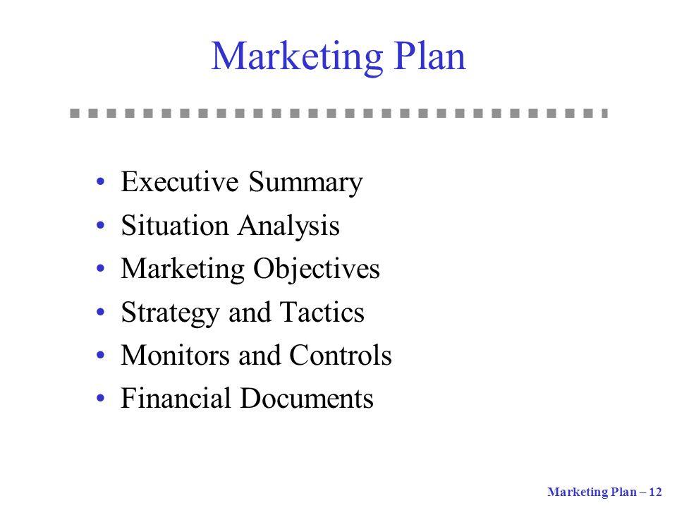 Marketing Plan Executive Summary Situation Analysis