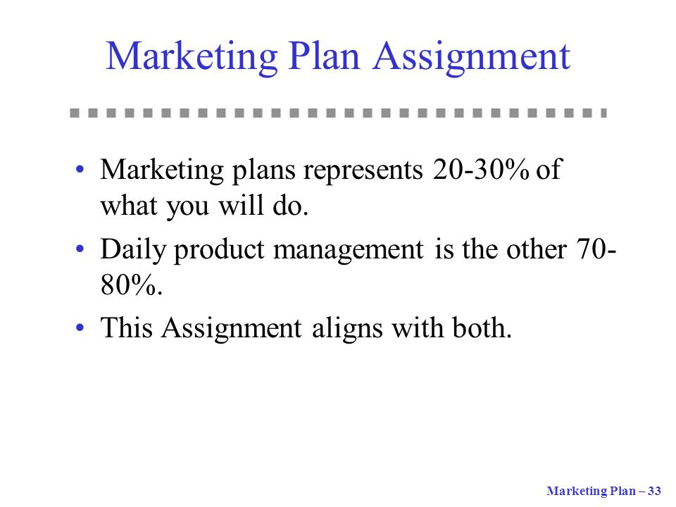 Marketing Plan Assignment