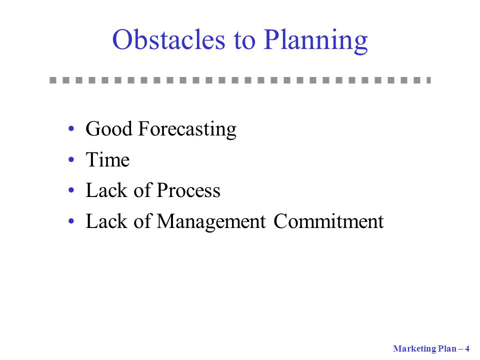 Obstacles to Planning Good Forecasting Time Lack of Process