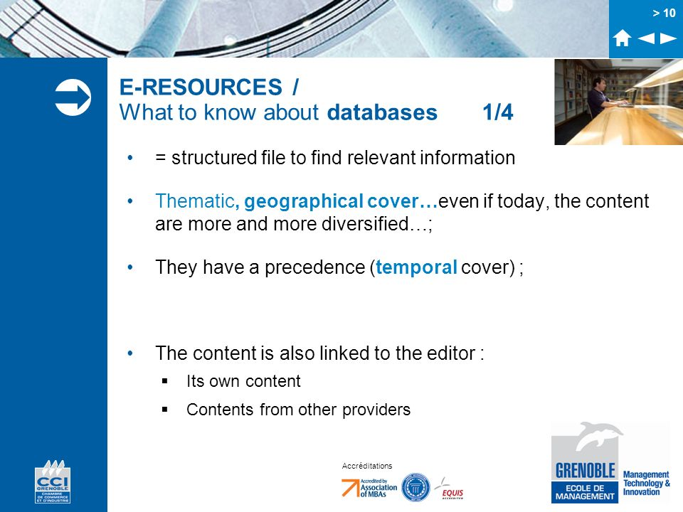 E-RESOURCES / What to know about databases 1/4