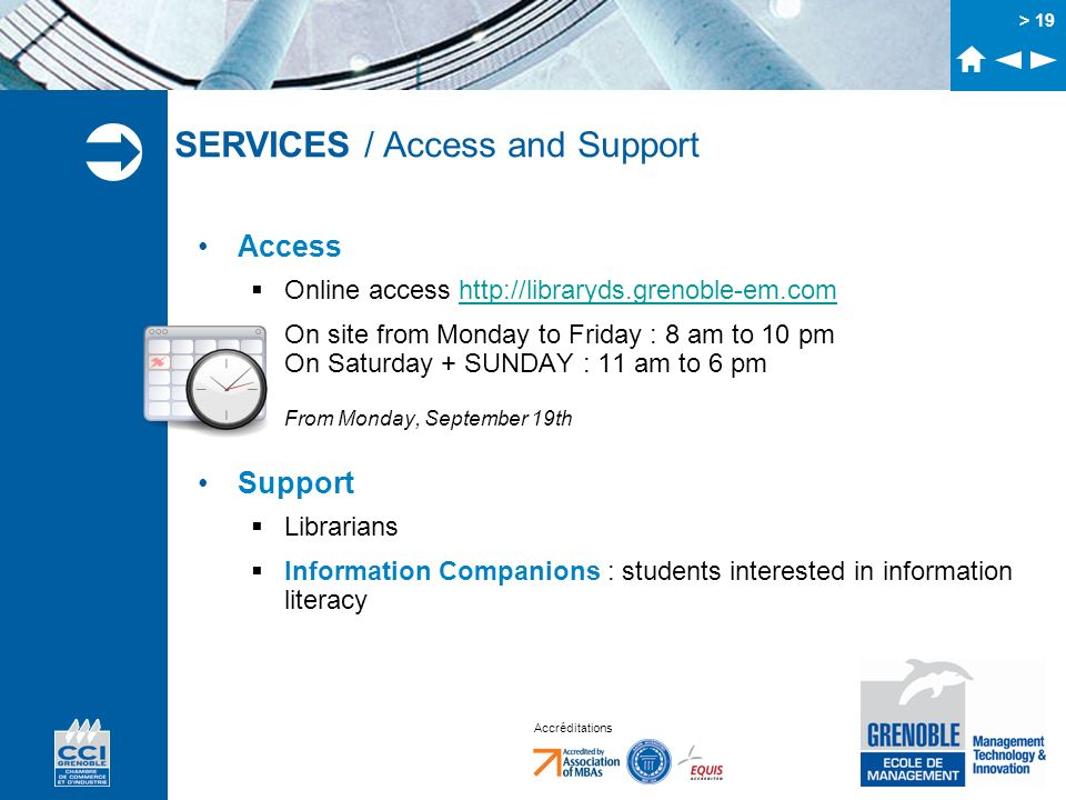 SERVICES / Access and Support