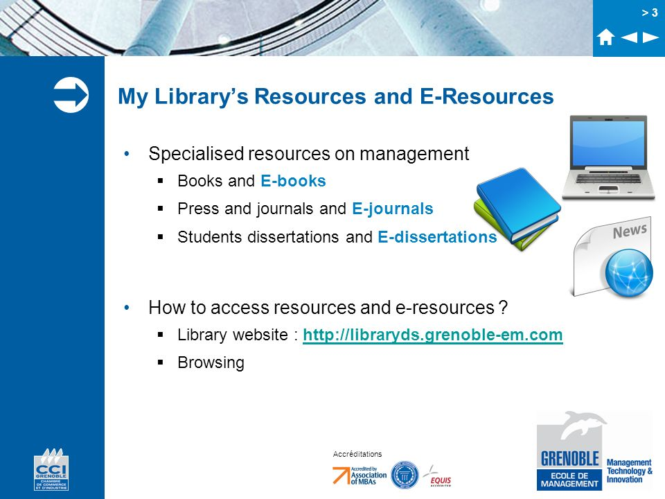 My Library's Resources and E-Resources