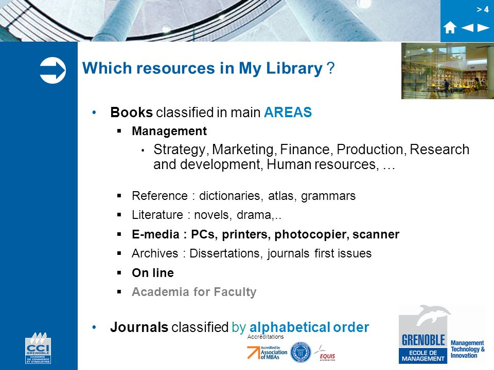 Which resources in My Library