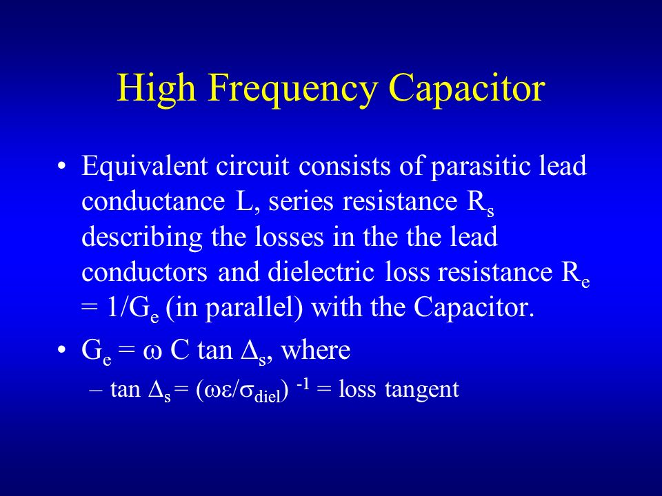 High Frequency Capacitor