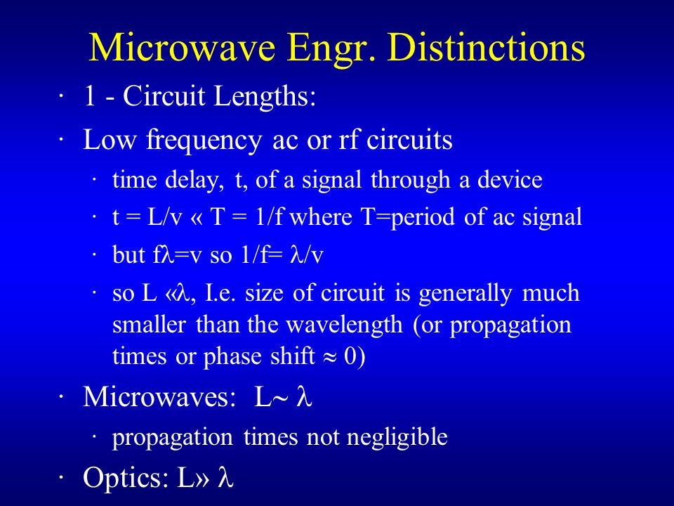Microwave Engr. Distinctions