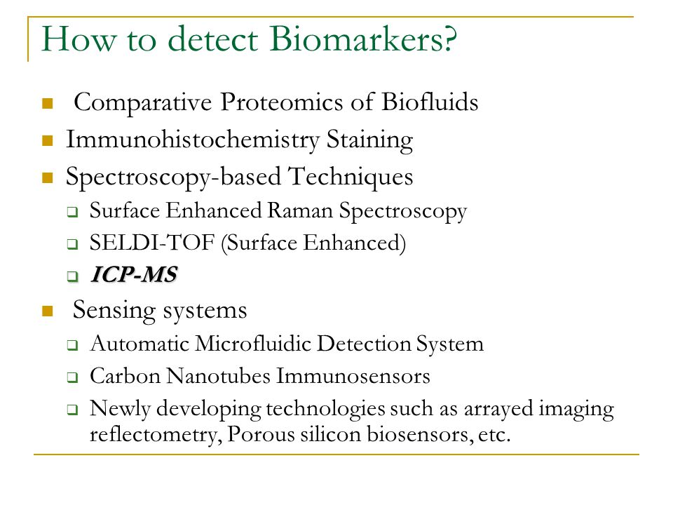 How to detect Biomarkers