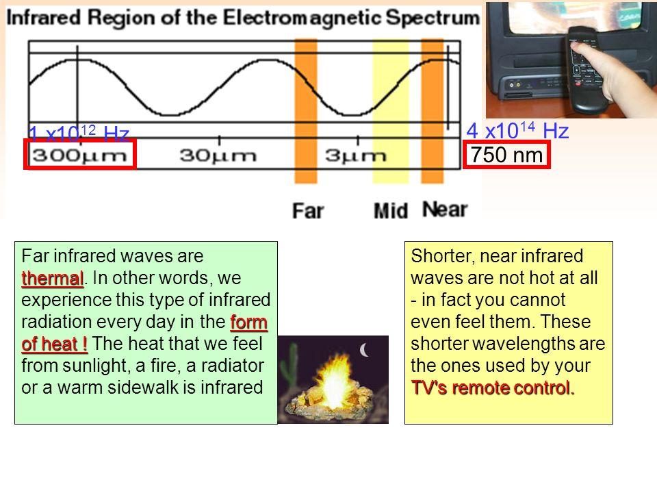 1 x1012 Hz 4 x1014 Hz. 750 nm.