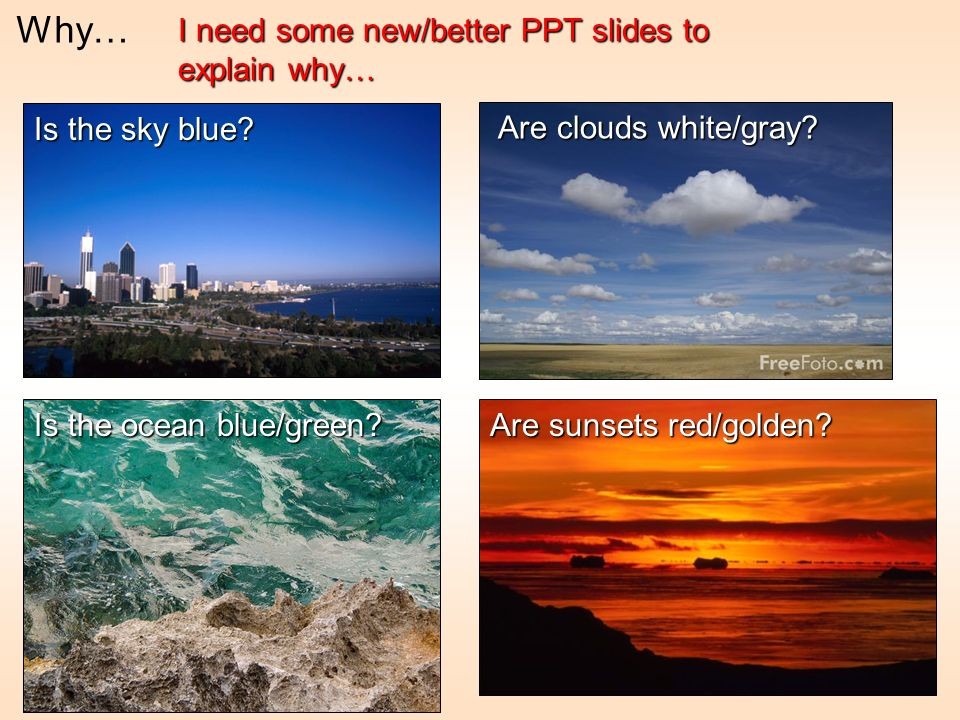Why… I need some new/better PPT slides to explain why…