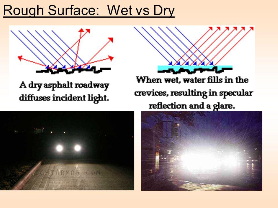 Rough Surface: Wet vs Dry
