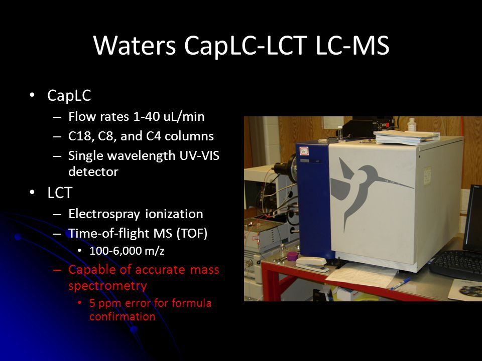 Waters CapLC-LCT LC-MS