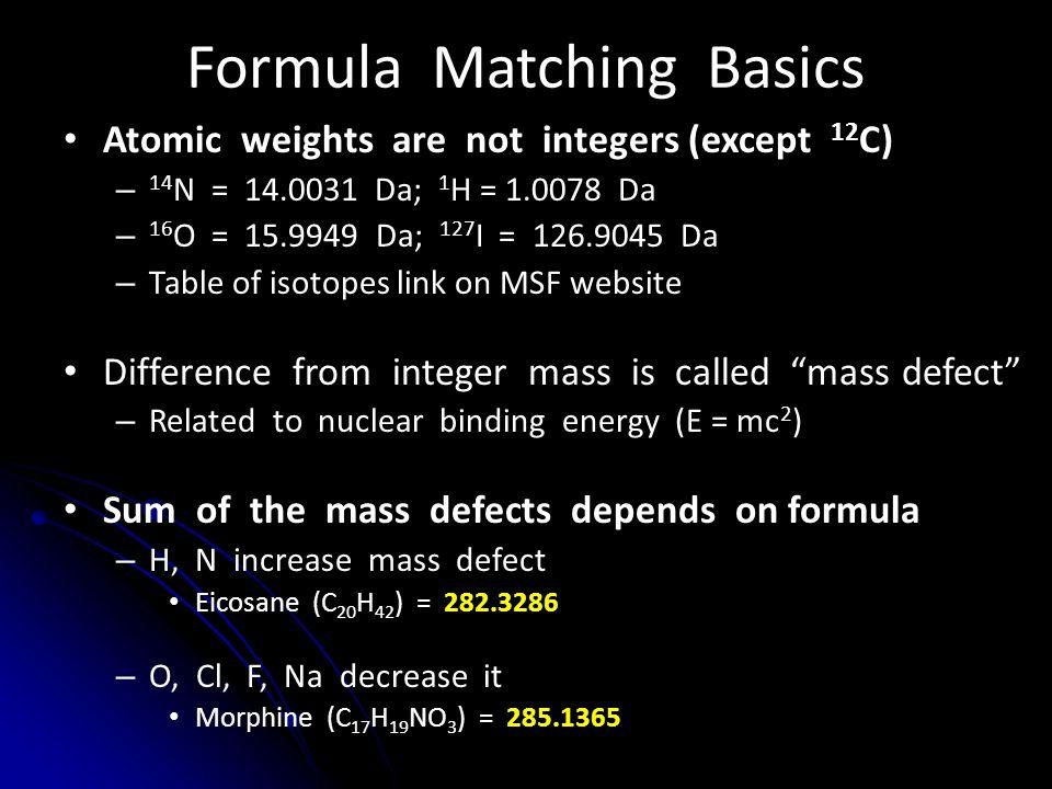 Formula Matching Basics