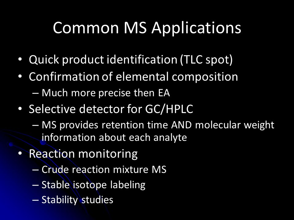 Common MS Applications