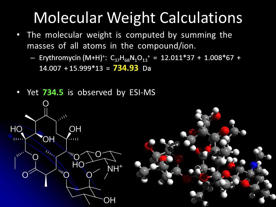 Molecular Weight Calculations
