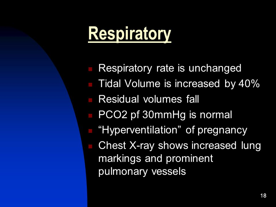 Respiratory Respiratory rate is unchanged