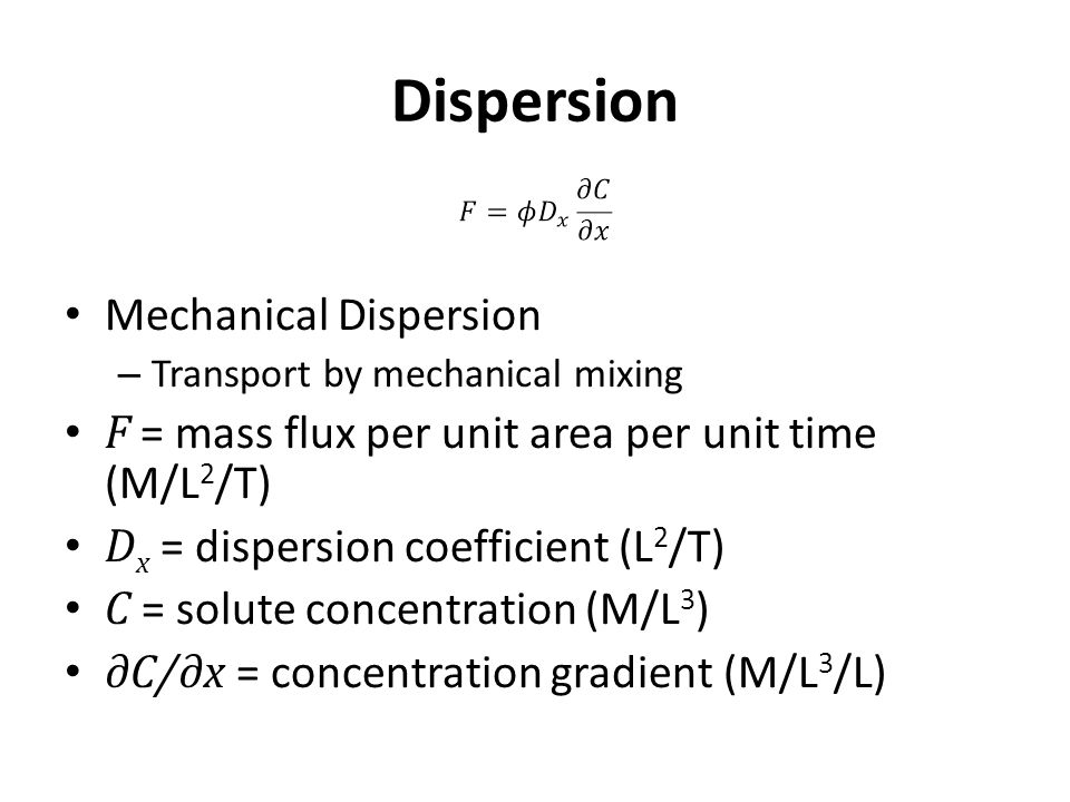 Dispersion Mechanical Dispersion
