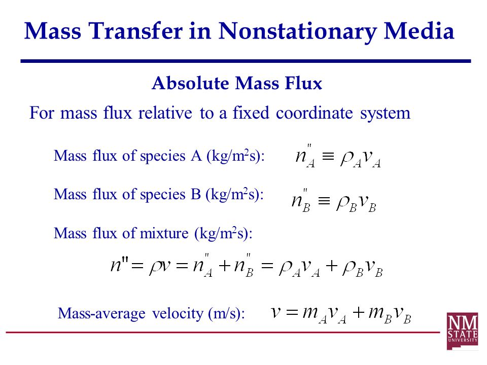 Mass Transfer in Nonstationary Media