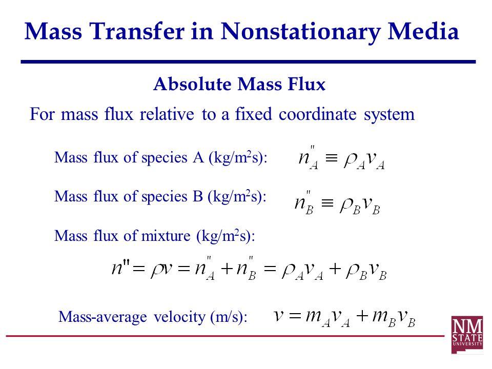 Mass Transfer in Nonstationary Media