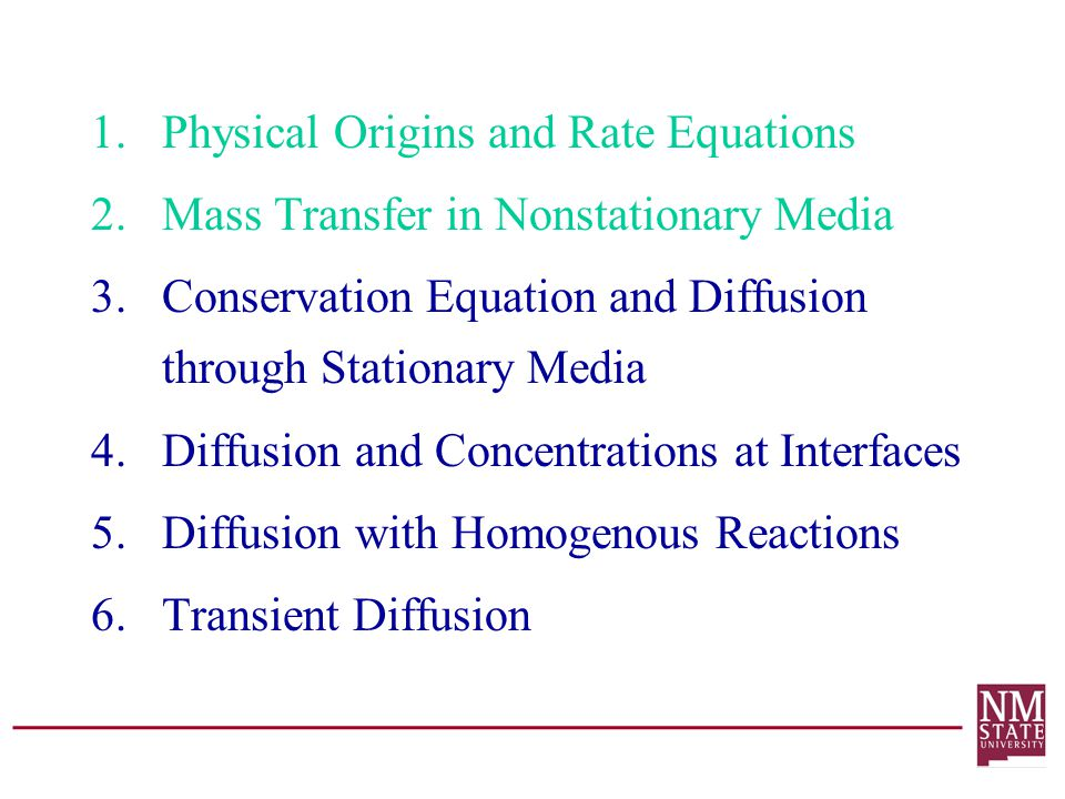 Physical Origins and Rate Equations