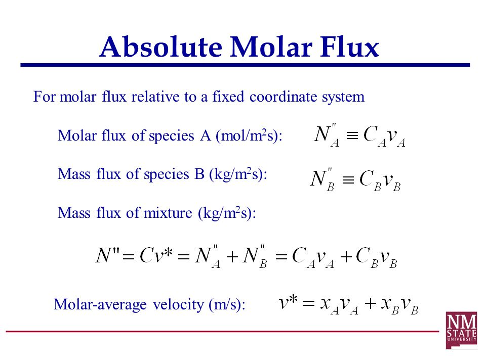 Absolute Molar Flux
