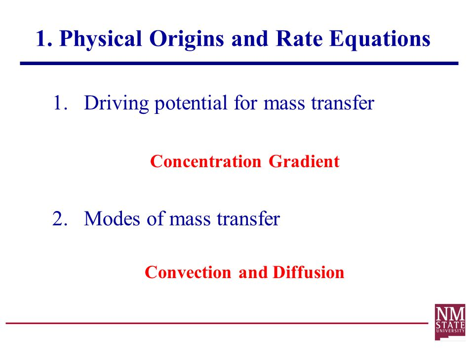1. Physical Origins and Rate Equations