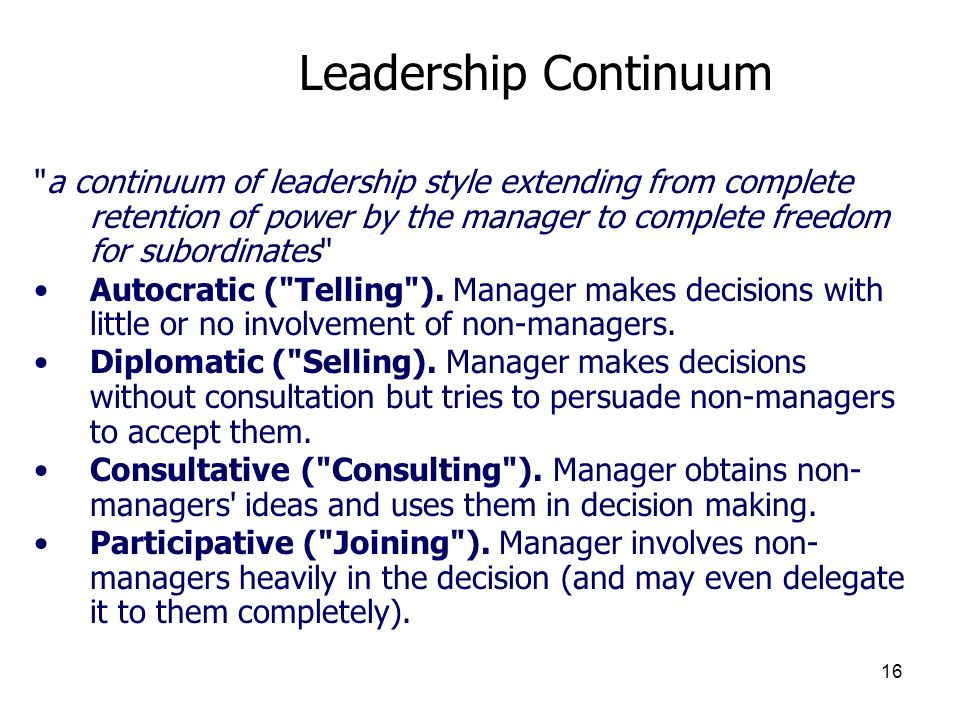 3/25/2017 Leadership Continuum.