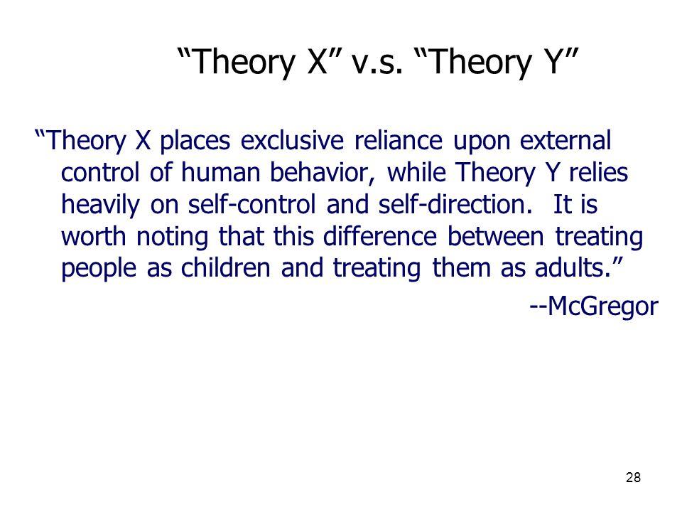 Theory X v.s. Theory Y