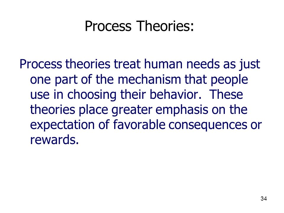 3/25/2017 Process Theories: