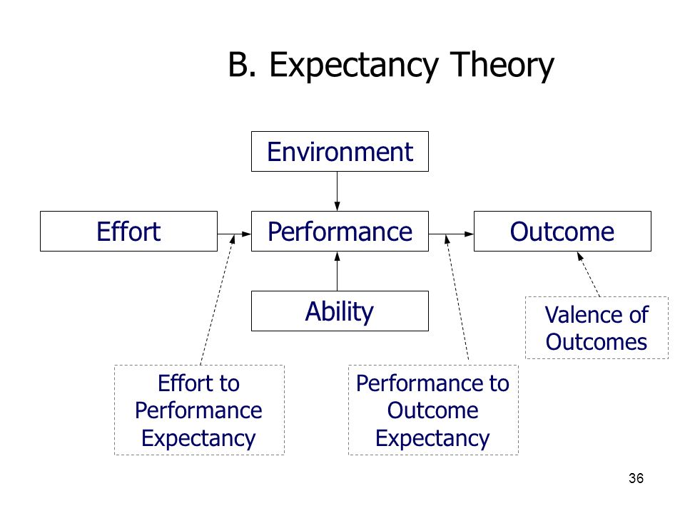 B. Expectancy Theory Environment Effort Performance Outcome Ability